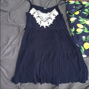Blue Rue21 dress with white lace